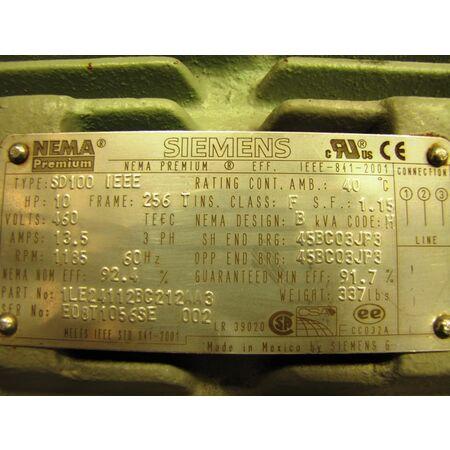 10 Hp Siemens Electric Ac Motor Nema Premium Unused