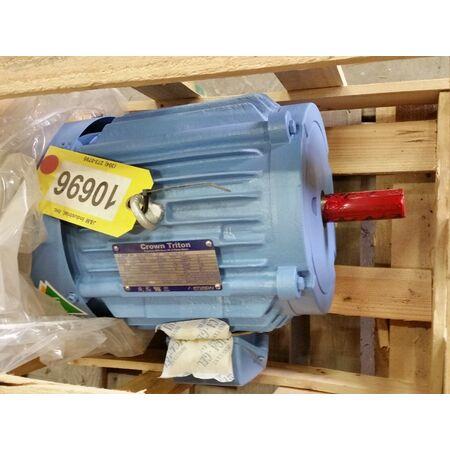 Unused crown triton electric motor 7 5 hp 1760 rpm 213t for Electric motor rebuilders near me