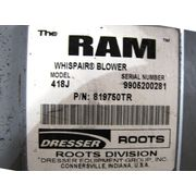 75  HP Roots Dresser RAM Whispair Blower Model 418J Used