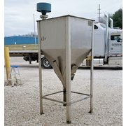 Used 25 Cubic Foot Stainless Steel Flex Auger Hopper