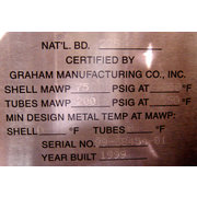 Graham Mfg. Panaflow Heat Exchanger; Model W-9212