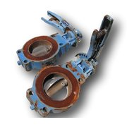 "USED 4"" DEZURIK MANUAL BUTTERFLY VALVE"