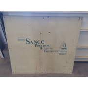 Used SANCO Precision resin batching equipment dual batch pumps and mix pots