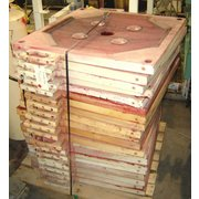 "Used 36"" Square Polypropylene Filter Press Plates [parts]"