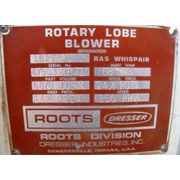 Roots Dresser Rotary Lobe Blower 1627 JV RAS Whispair