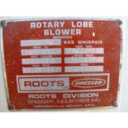 Roots Dresser Rotary Lobe Blower 1627 RAS Whispair Used