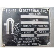 "16"" Dia. Fisher-klosterman Stainless Steel Cyclone Used"