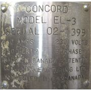Used Coil Manufacturing Ltd. - Concord Model El-3 Spinning Disc Atomizer