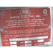 Used Akron Electric Explosion-proof Control Panel Enclosure