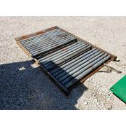 "Used Idler Gravity Roller Conveyor Table - 52""wide X 6'-6"" Long"