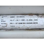 "Unused 1-1/2"" Diameter Sch 80 Carbon Steel Pipe (21' Nominal Lengths)"