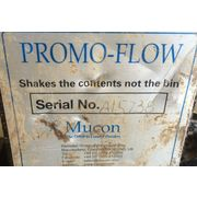 Used Promo-flow Mucon piston bin vibrator