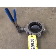 "Used 4"" Keystone 316 Stainless Steel manual Butterfly valve"