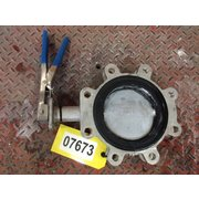 "Used 6"" Keystone Figure 920 316 Stainless Manual Butterfly Valve"