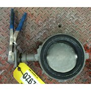 "Used 6"" Keystone Figure 990 Wafer Style 316 Stainless Manual Butterfly Valve"