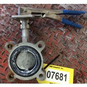 "Used 3"" Keystone 316 Stainless Steel Manual Butterfly Valve"