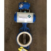 "Used 6"" macprocess Scheck air actuated Butterfly Valve"