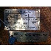 "Used 6"" Keystone Manual Butterfly Valve Figure 222"
