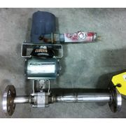 "Used 1"" stainless steel ball valve, pneumatic actuator (LOT of two)"