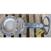"USED 8"" DEZURIK MANUAL KNIFE GATE VALVE"