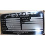 USED GRAHAM MFG 30 SQ. FT. PLATE HEAT EXCHANGER - MODEL HX-12