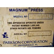Used Parkson Sludge Dewatering Magnum Belt Press Series 3000-1.0