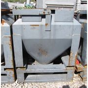 32 CUBIC FT USED TOTE BIN WITH BRAY BUTTERFLY VALVE
