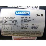 UNUSED LEESON ELECTRIC MOTOR, 1/3 HP
