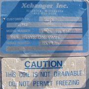USED XCHANGER INC. HEAT EXCHANGER MODEL C-125