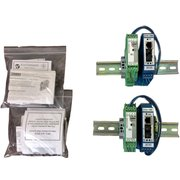 Pair of Switched Media Converters, 10/100Base-T(X) RJ45, 100Base-FX ST, 1300nm