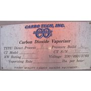USED CARBO TECH INC. CARBON DIOXIDE PRESSURE BUILD VAPORIZER - MODEL CT-56KW