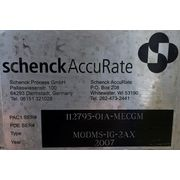 "Used 2-1/4"" Schenck AccuRate MechaTron Coni-Steel Loss-in-weight screw feeder"