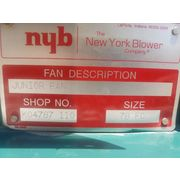 "400 CFM @ 1.5"" SP Used New York Blower NYB  Junior Fan - Size 78 FC"