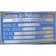 Unused Air-cure Technologies Ceilcote Air Pollution Frp Fan - Model Clmr12