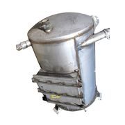 80 CUBIC FOOT USED MAC STAINLESS STEEL WEIGH BIN RECEIVER