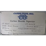 USED CARBO TECH INC. CARBON DIOXIDE PRESSURE BUILD VAPORIZER - MODEL CT-18KW
