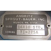 "10"" X 10"" ANDRITZ SPROUT-BAUER, INC. ROTARY AIRLOCK VALVE 14X10-STD"