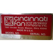 "1,700 CFM @ 10"" SP Used Cincinnati Fan Radial Blade Exhauster Model RBE-9"