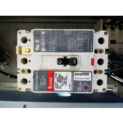 Used electrical panel with cuttler-hammer main breaker and bypass contactors
