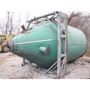 Used 600 Cubic Foot 8' Dia. Stainless Steel Hopper Bin