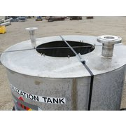 Used 460 gallon 316 Stainless Steel Neutralization Industrial tank