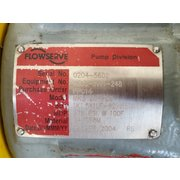 USED 7.5HP DURCO FLOWSERVE STAINLESS STEEL PUMP MK3 LO-FLO 1K1.5X1LF-8