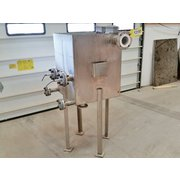 USED 2- SECTION STAINLESS STEEL TANK