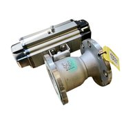 "USED 6""Ø STAINLESS STEEL BALL VALVE WITH ACTUATOR"