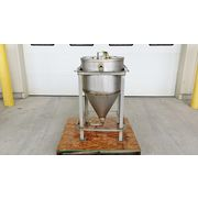 Used 44 Gallon Stainless Steel Hopper - 5.9 Cu/ft
