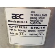 Used AEC Whitlock Hopper Filter Vacuum Receiver - Src16