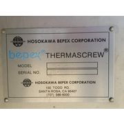 Hosokawa Bepex Rietz Stainless Thermascrew Indirect Dryer Thermal Screw Blancher
