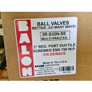 "Unused Balon 3"" S Series Ductile Iron Ball Valves - 2 Pack"