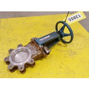 "Used 4""Ø Cast Stainless Steel DeZurik Knife Gate Valve - Fig. 824"