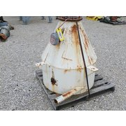 Used 16 cu/ft Carbon Steel Cone Hopper